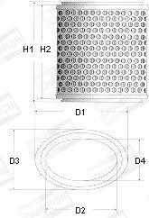 Filtre à air CHAMPION W177/606