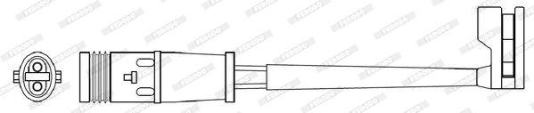 Contact d'avertissement, usure des plaquettes de frein FERODO FWI311