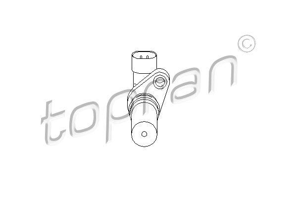 Capteur d'angle, vilebrequin TOPRAN 207 414